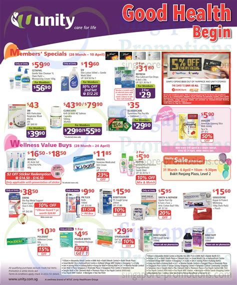 M Best Promo Elora Care ntuc unity health offers promotions 28 mar 24 apr 2014