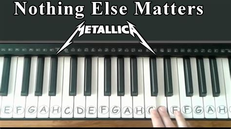 tutorial guitar nothing else matters nothing else matters metallica easy piano tutorial
