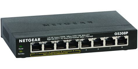best 8 gigabit switch review netgear prosafe gs308p 8 gigabit poe switch