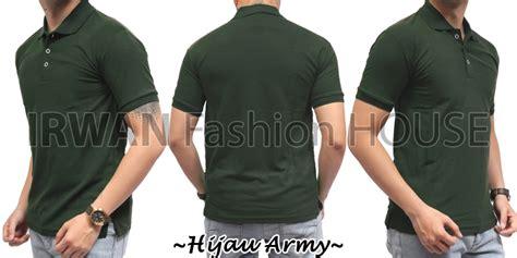 Kaos Polo Shirt Pria 4 jual polo 4 kaos baju pria cowok kerah pendek polos hijau