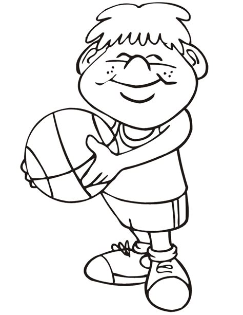 free coloring pages of boy playing ball
