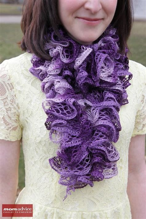 easy knitting pattern ruffle scarf easy knitted ruffled scarf with sashay yarn momadvice