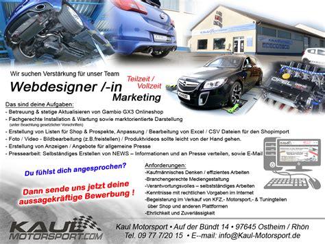 Stellenausschreibung Audi by Kms Die Experten F 252 R Auspuffanlagen Chiptuning Und