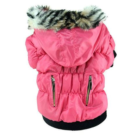 Pet Puppy Winter Cat Warm Coat Jacket Jumpsuit Hooded Clothes Appa pet cat warm coat puppy winter cotton hooded jacket clothes xs s m l xl b80 ebay