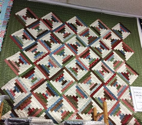 quilt pattern on point log cabin on point quilt kit 73 5 x 73 5 pattern included