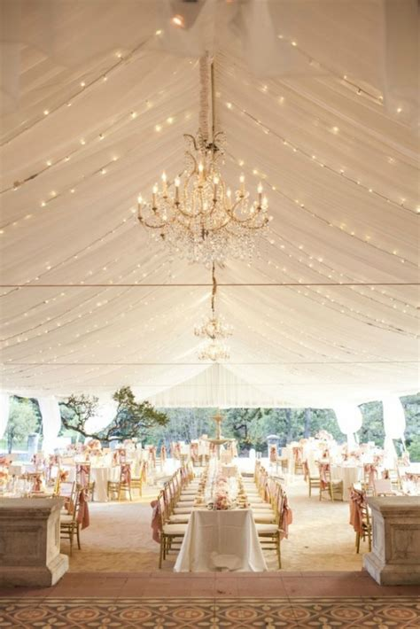 Faux Crystal Chandeliers 25 Wedding Tents To Party Under Brit Co