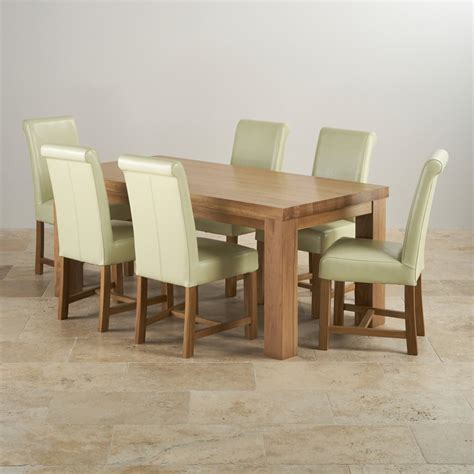 Solid Oak Dining Table And 6 Chairs Oak Dining Tables Contemporary Chunky 6ft Solid Oak Dining Set