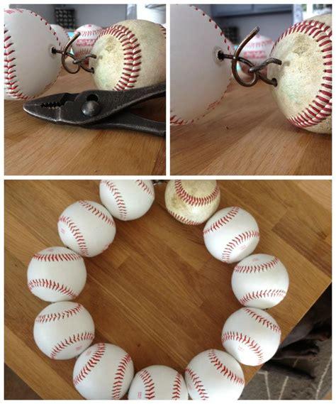 baseball craft projects baseball wreath easy diy craft baseball season d 233 cor