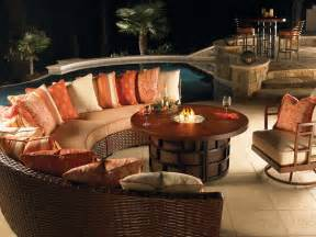 patio furniture set with pit table fireplace design