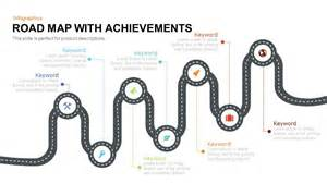 road map with achievements powerpoint and keynote template