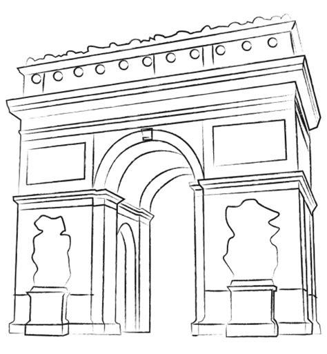 coloring pages of india gate l arc de triomphe de l etoile je colorie paris par equipe