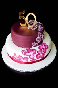 Custom cake elegant design 50th birthday