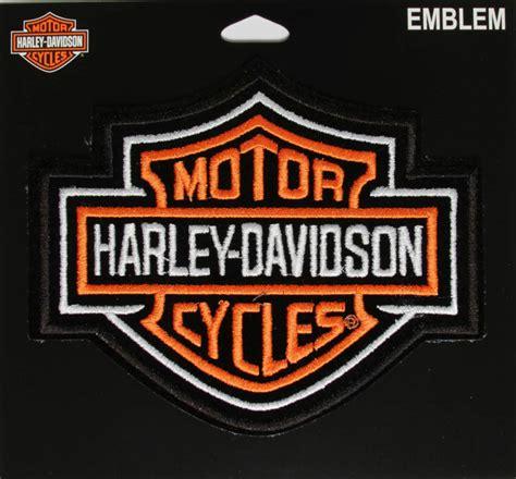 Harley Davidson Shield by Harley Davidson Orange Bar And Shield 5 5 Inch Patch