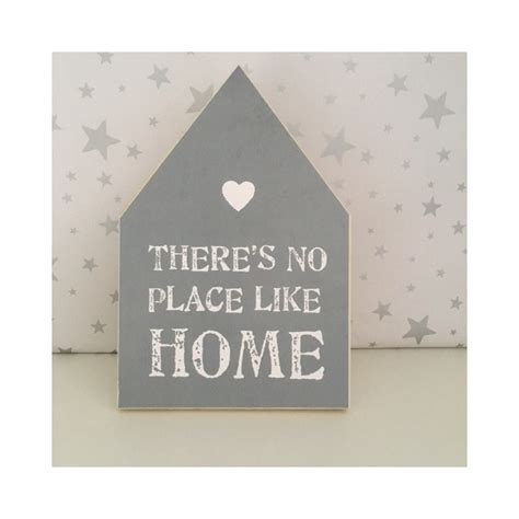 there is no place like home chunky grey sign