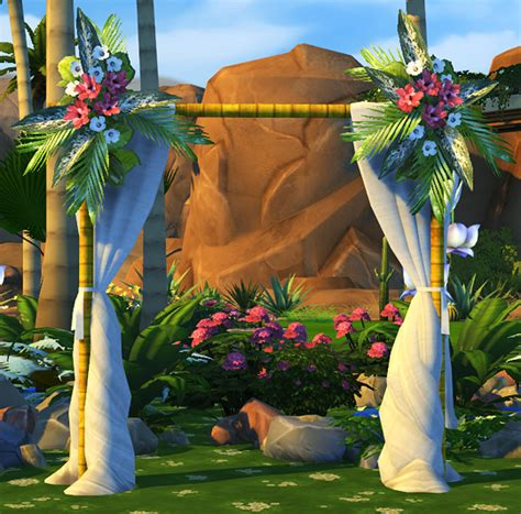 Wedding Arch Sims 4 Cc by Fully Functional Wedding Arches At Soloriya 187 Sims 4 Updates