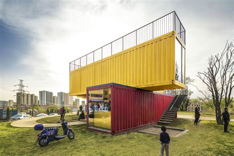 Home Design 3d Levels container stack pavilion people s architecture arch2o com