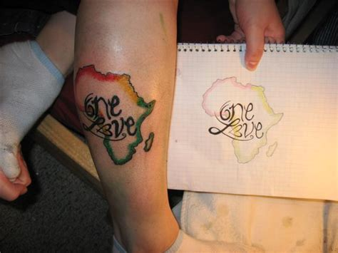 africa map tattoo designs beautiful one map on leg
