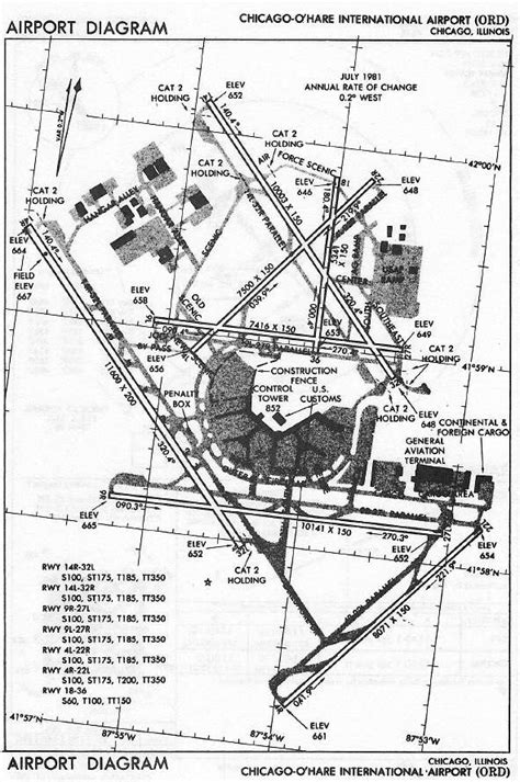 jeppesen airport diagram chicago o hare international airport ord airport diagram