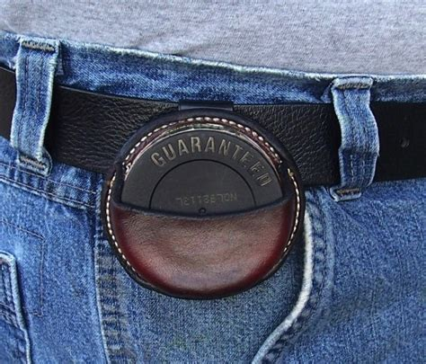 custom leather snuff dip can belt pouch holster can1