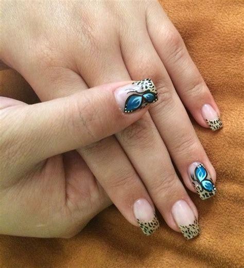 imagenes uñas decoradas con mariposas dise 241 os de u 241 as animal print con mariposas