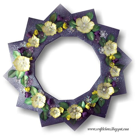 paper flower wreath tutorial crafticious christmas paper wreath flower tutorial