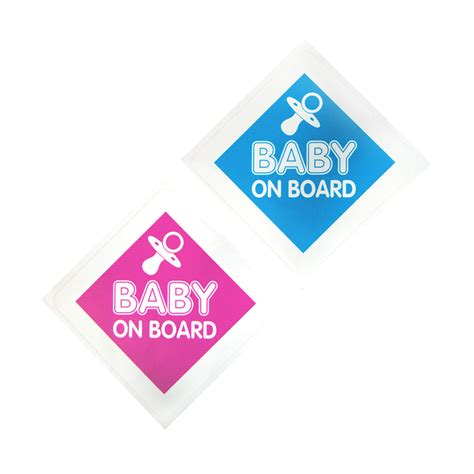 Atu Aufkleber by Aufkleber Quot Baby On Board Quot Sticker In Blau Pink