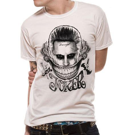 jared leto joker tattoo t shirt suicide squad damaged joker t shirt batman