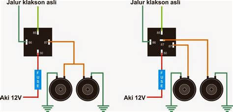 wiring diagram relay power window rangkaian hazard warning