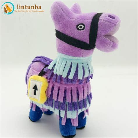 fortnite troll stash llama plush toy colorful horse filled