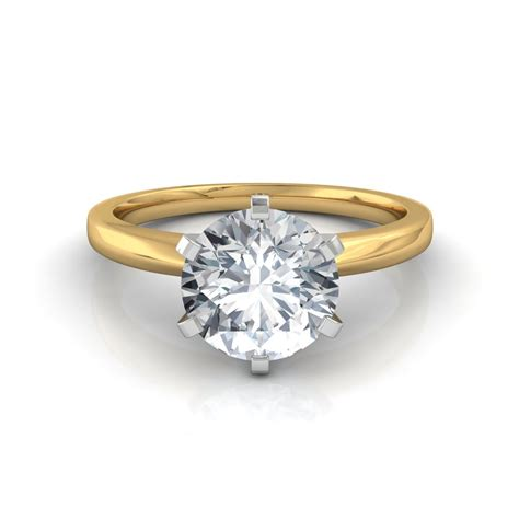 Solitaire Engagement six prong solitaire engagement ring in platinum or gold