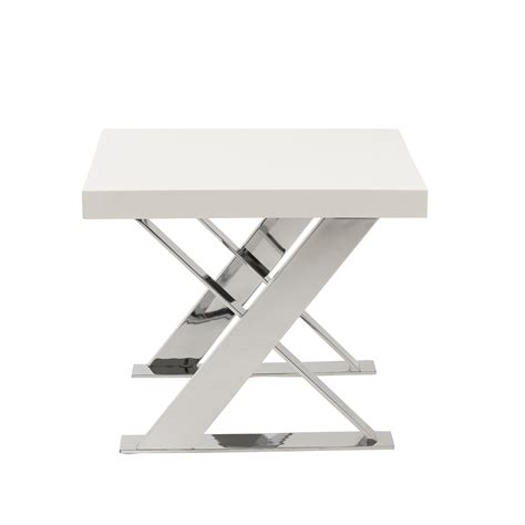 X Base Side Table X Base Side Table Walnut Chrome Affordably Modern Touch Of Modern