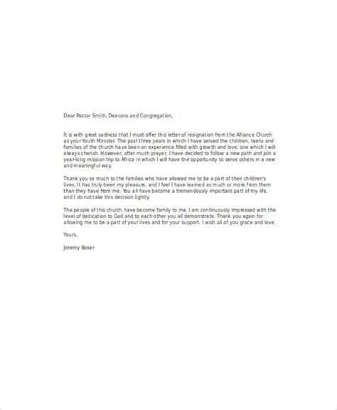 church resignation letter template 28 images