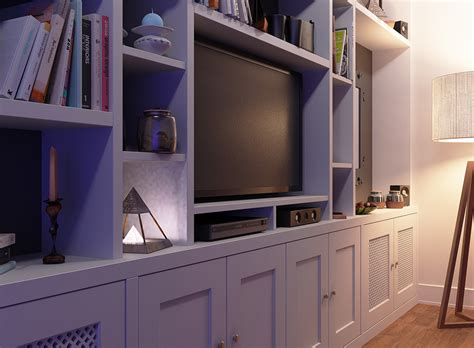 Fitted Cabinets Living Room by Fitted Bookcase Around Tv Unit Chelsea