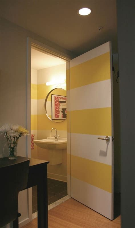 stripped bathroom to da loos a splash of yellow in the bathroom can be a
