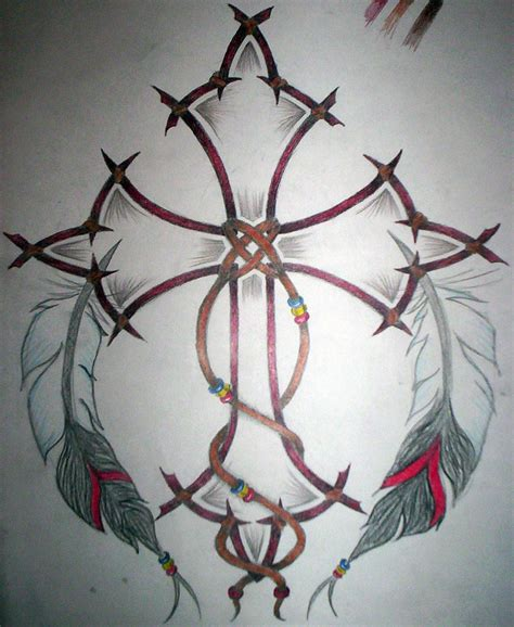 native american cross tattoos american cross by quora on deviantart