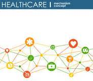 Connected Healthcare Strategies Healthcare Mechanism Concept Abstract Background With