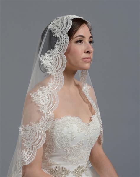 hairstyles with mantilla veil tulip bridal lace mantilla veil v030 wedding veil the knot
