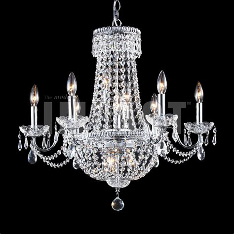 James R Moder 40660s22 Crystal Imperial Impact 6 Arm Moder Chandeliers