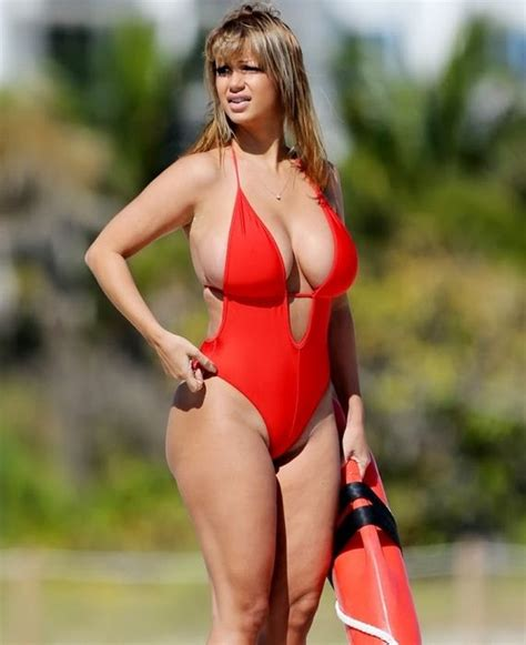 Puts On Baywatch Suit by Jolena Forde Big And In