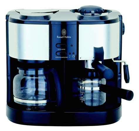 Russel Hobbs 3 In 1 Coffee Maker (S/S Satin Finish)