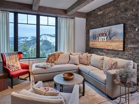 lounge room styling steinwand wohnzimmer eine dekorative wand voller charakter und stil