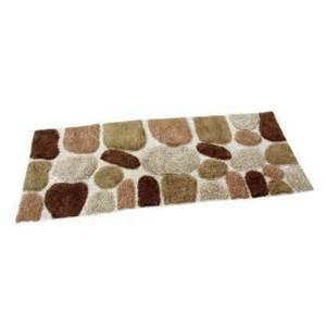 24 X 60 Bath Rug Chesapeake Merchandising 24 In X 60 In Pebbles Bath Rug Runner In Khaki 45090 The Home Depot
