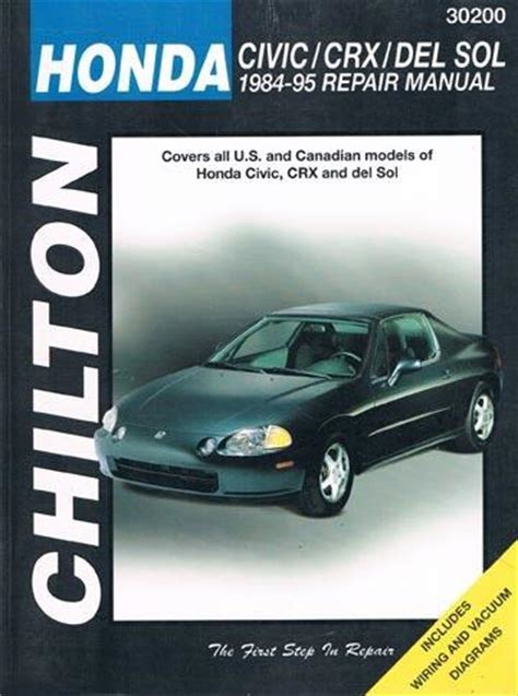 purchase 1984 95 honda civic crx del sol repair manual all u s canadian models motorcycle