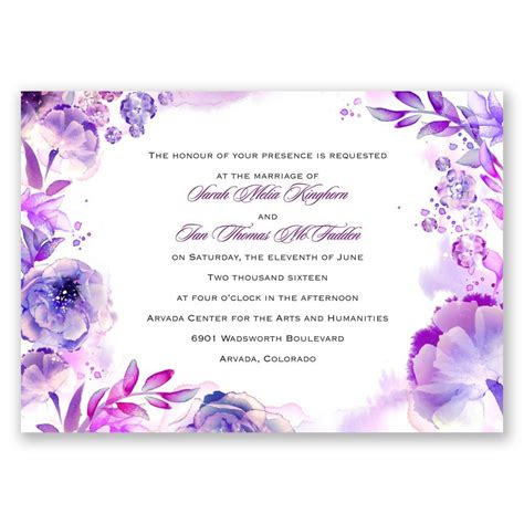 Water Themed Wedding Invitations by Watercolor Invitation Invitations By
