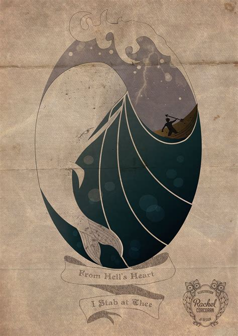 moby dick tattoo moby a3 illustration whale sea print