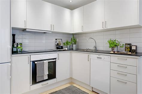small kitchen area comfy small apartment exhaling brightness in gothenburg