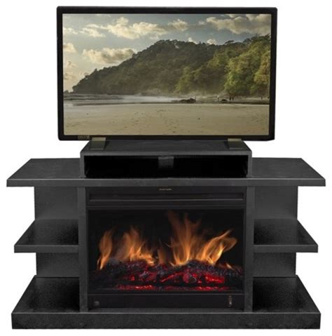 Gas Fireplace With Tv Stand by Shelby 46 Quot Tv Stand With Electric Fireplace Modern Gas