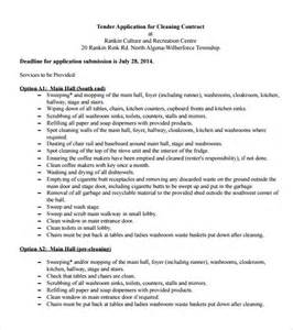 Janitorial Contracts Templates by Cleaning Contract Template 9 Documents In Pdf