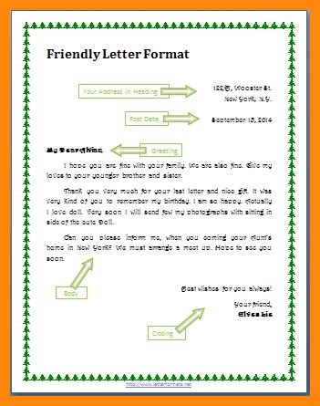 format for writing a friendly letter 6 friendly letter format resumed