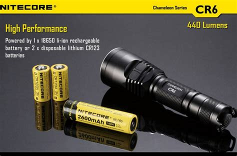 Nitecore Cr6 Senter Led Cree Xp G2 R5 440 Lumens buy nitecore cr6 cree xp g2 440lm chameleon series tactical led flashlight bazaargadgets